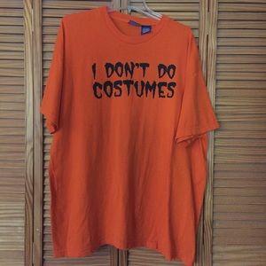 Men's Orange Graphic Halloween Short Sleeve TShirt
